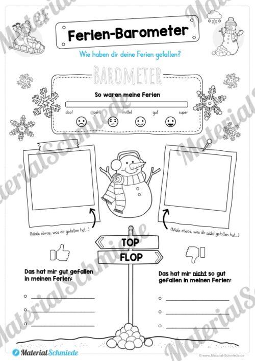 20 Arbeitsblätter zu den Winterferien (Vorschau 06)
