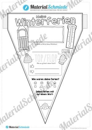 Wimpel Winterferien