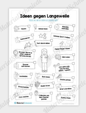 Homeschooling - Ideen gegen Langeweilung (für Mädchen)