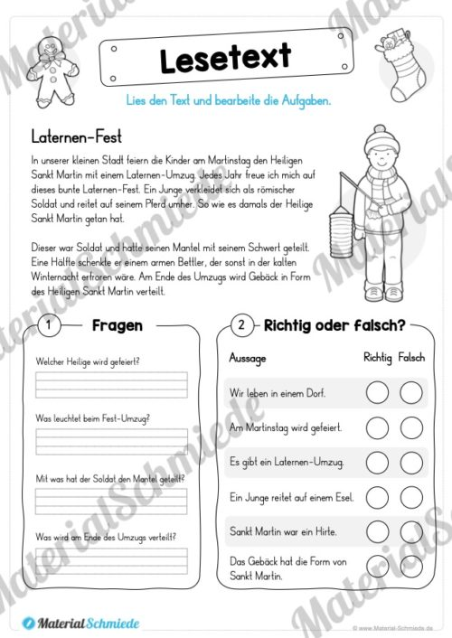 10 Lesetexte zum Advent (Laternen-Fest)