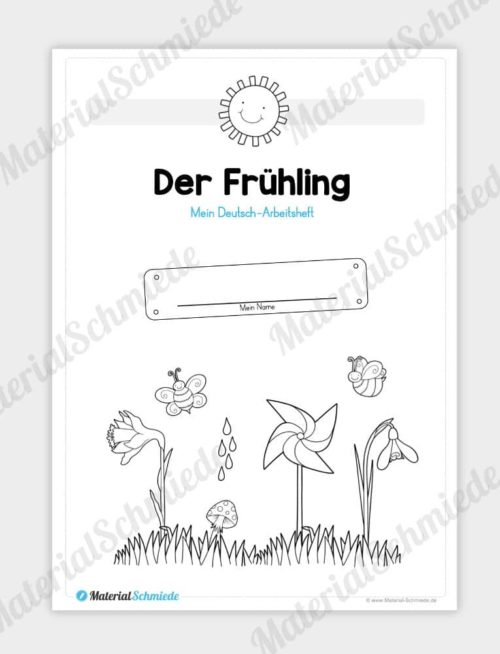 Materialpaket Frühling: Deutsch (1/2 Klasse) - Vorschau 01