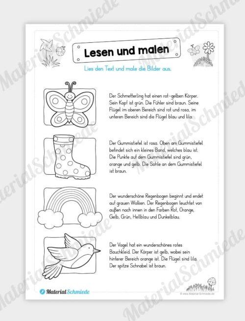 Materialpaket Frühling: Deutsch (1/2 Klasse) - Vorschau 04