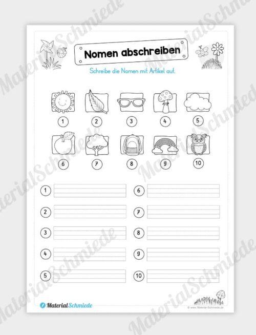 Materialpaket Frühling: Deutsch (1/2 Klasse) - Vorschau 05