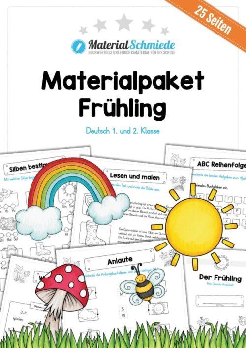 Materialpaket Frühling: Deutsch (1/2 Klasse)