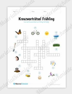 Kreuzworträtsel Frühling