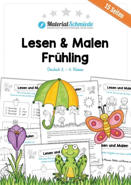 MaterialPaket: Lesen und Malen im Frühling (15 Seiten)