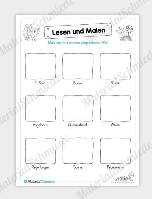 MaterialPaket: Lesen und Malen im Frühling (15 Seiten) - Vorschau 05