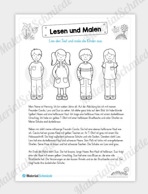 MaterialPaket: Lesen und Malen im Frühling (15 Seiten) - Vorschau 03