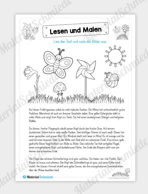 MaterialPaket: Lesen und Malen im Frühling (15 Seiten) - Vorschau 02