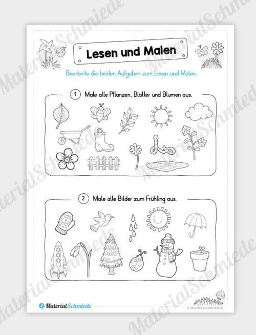 MaterialPaket: Lesen und Malen im Frühling (15 Seiten) - Vorschau 06