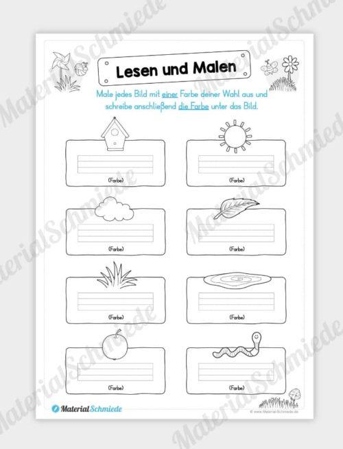 MaterialPaket: Lesen und Malen im Frühling (15 Seiten) - Vorschau 07