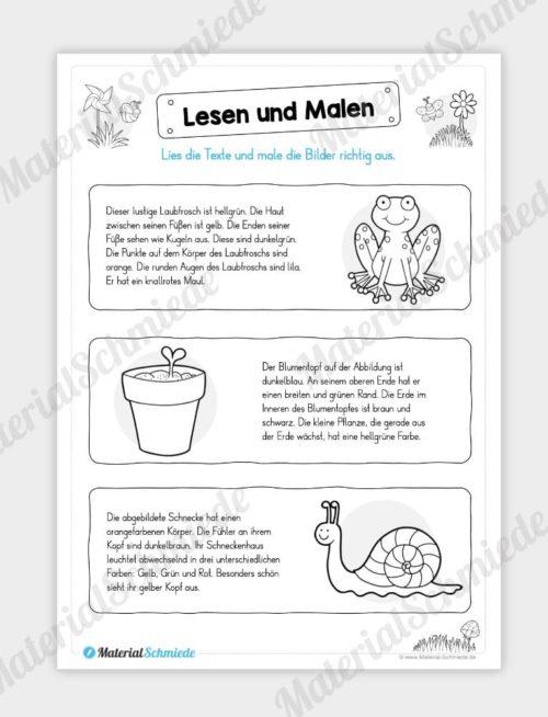 MaterialPaket: Lesen und Malen im Frühling (15 Seiten) - Vorschau 09