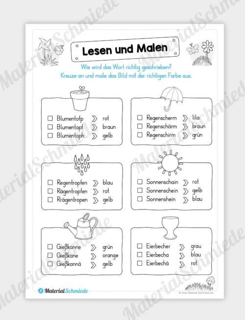 MaterialPaket: Lesen und Malen im Frühling (15 Seiten) - Vorschau 12