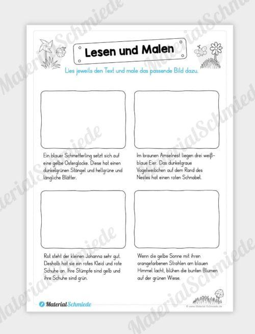 MaterialPaket: Lesen und Malen im Frühling (15 Seiten) - Vorschau 13
