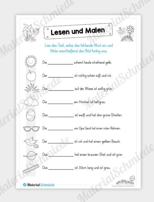 MaterialPaket: Lesen und Malen im Frühling (15 Seiten) - Vorschau 14