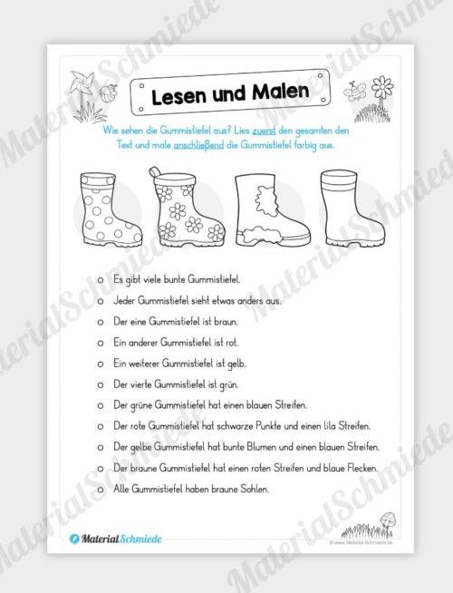 MaterialPaket: Lesen und Malen im Frühling (15 Seiten) - Vorschau 10