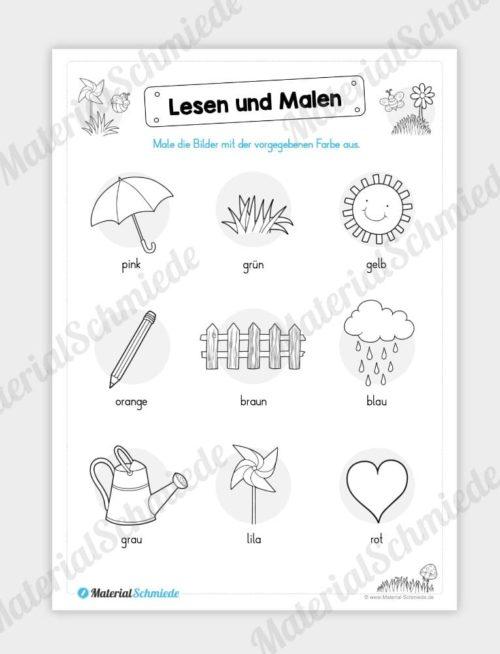 MaterialPaket: Lesen und Malen im Frühling (15 Seiten) - Vorschau 11