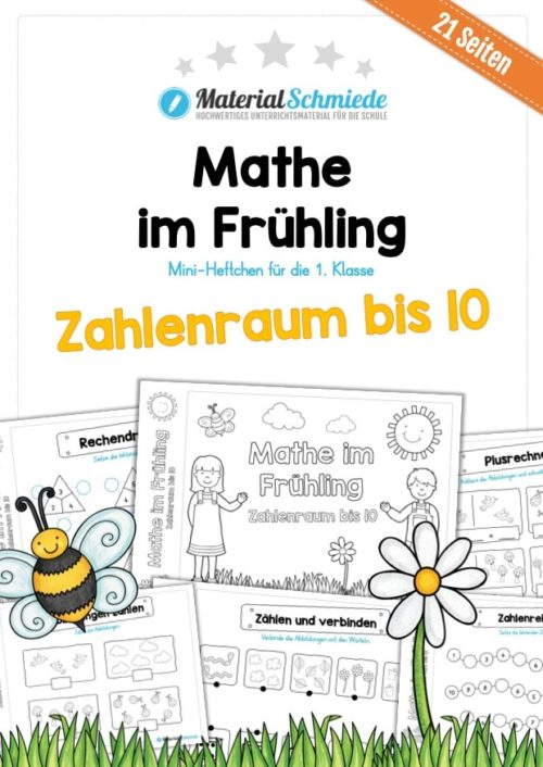 Mathe Übungen Frühling - Zahlenraum bis 10