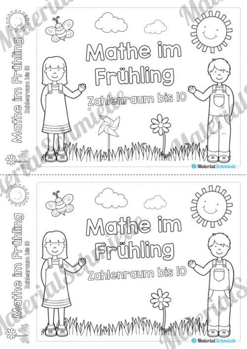 Mathe Übungen Frühling - Zahlenraum bis 10 (Deckblatt)