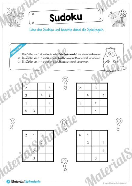 Rätsel-Arbeitsblätter zum Frühling (Vorschau 04)