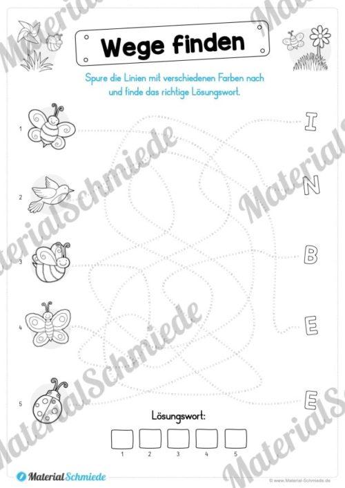 Rätsel-Arbeitsblätter zum Frühling (Vorschau 05)