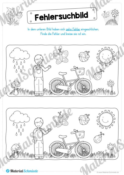 Rätsel-Arbeitsblätter zum Frühling (Vorschau 06)