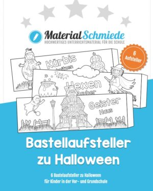6 Bastelaufsteller zu Halloween