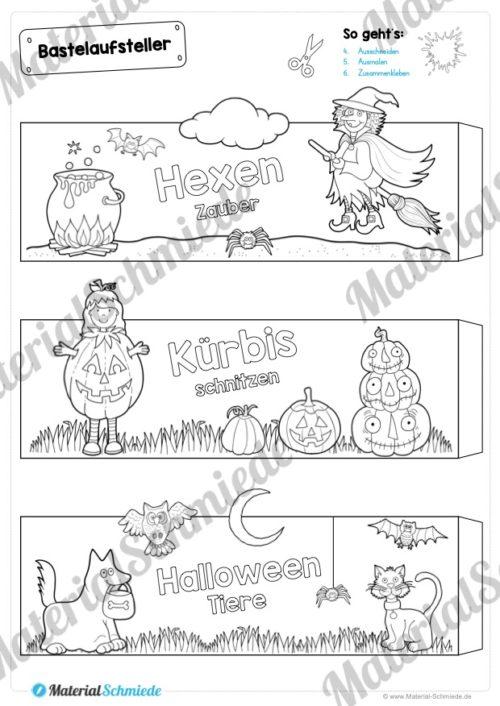 6 Bastelaufsteller zu Halloween (Vorschau 02)