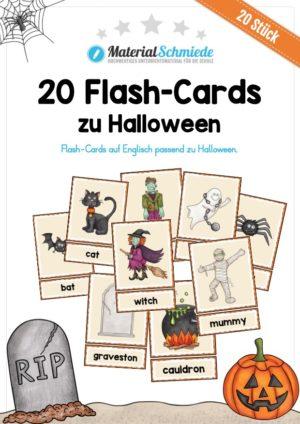20 englische Flash-Cards zu Halloween