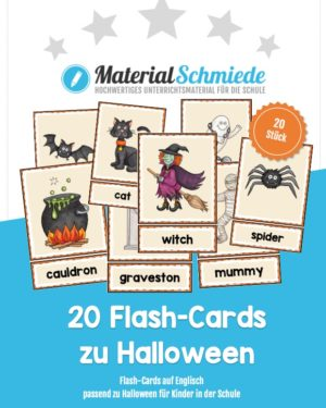20 englische Flash-Cards zu Halloween