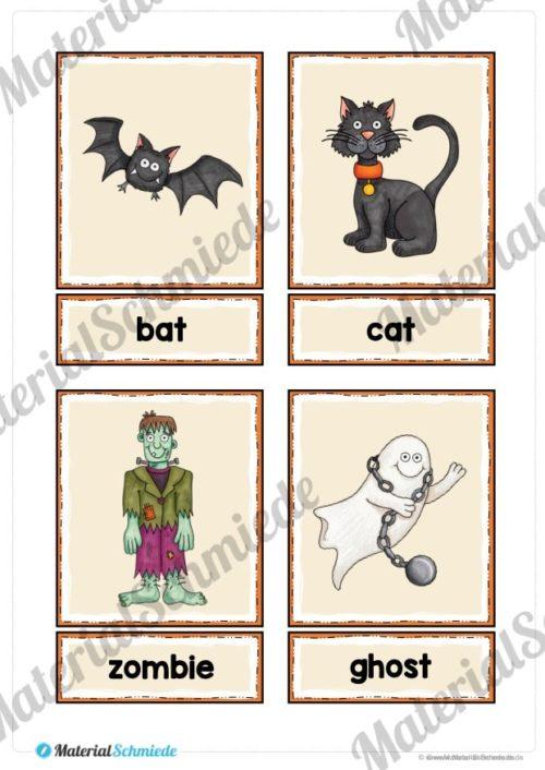 20 englische Flash-Cards zu Halloween (Vorschau 01)