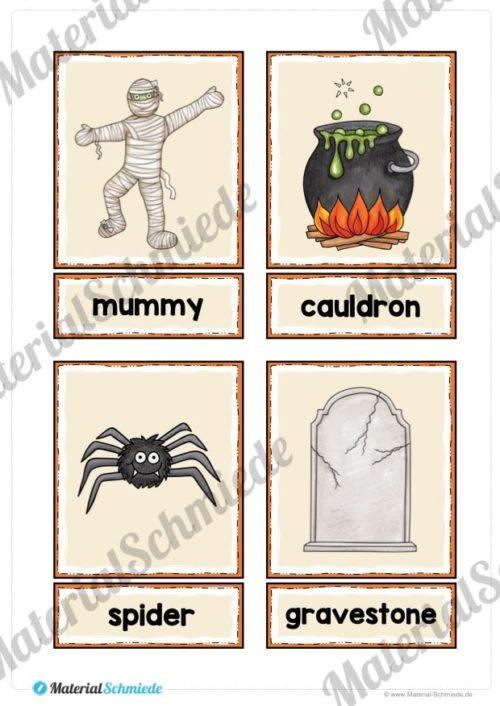 20 englische Flash-Cards zu Halloween (Vorschau 02)