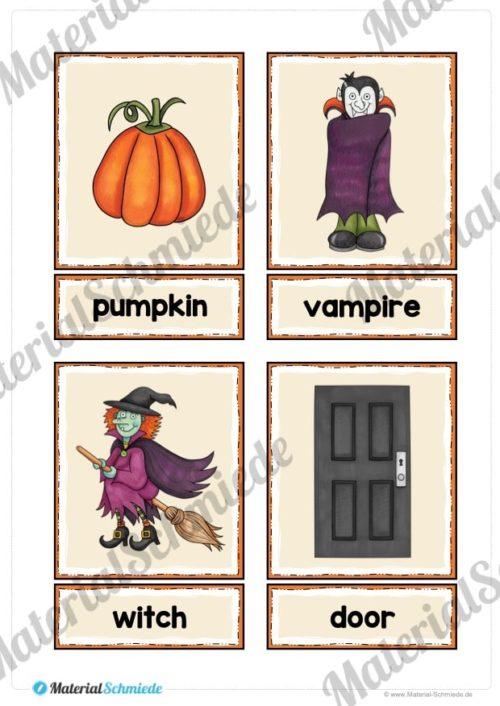 20 englische Flash-Cards zu Halloween (Vorschau 03)