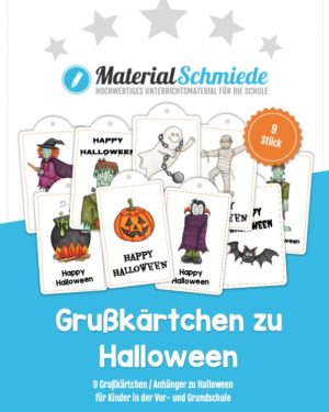 Grußkärtchen / Anhänger zu Halloween