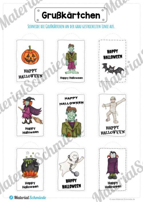 Grußkärtchen / Anhänger zu Halloween (Vorschau 03)