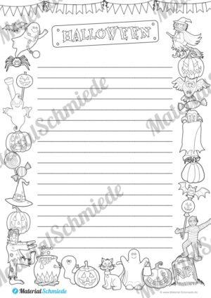 Halloween: Rahmen / Schmuckrahmen / Schreibvorlage