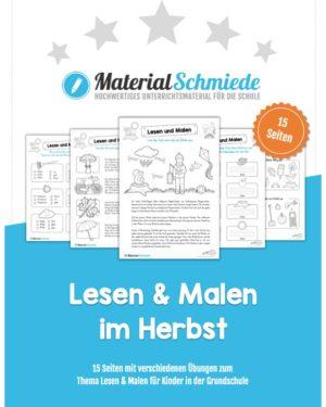 Materialpaket: Lesen und Malen im Herbst (15 Seiten)