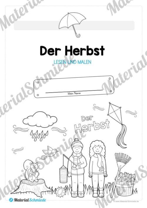 Materialpaket: Lesen und Malen im Herbst (Vorschau 02)