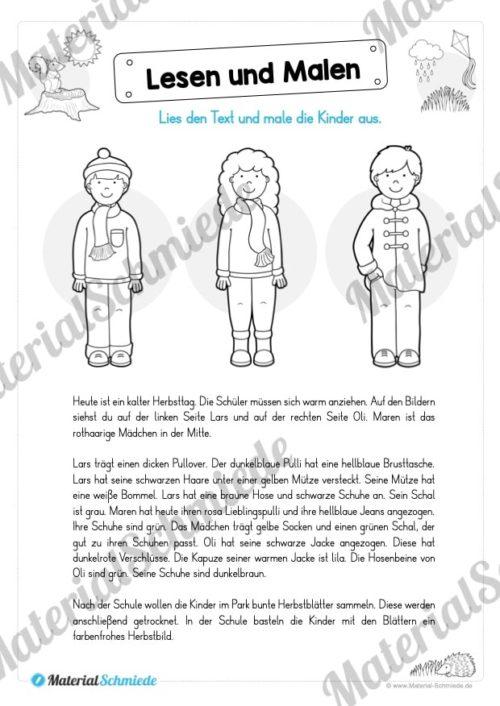 Materialpaket: Lesen und Malen im Herbst (Vorschau 05)