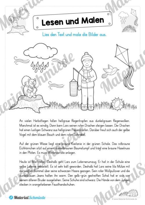Materialpaket: Lesen und Malen im Herbst (Vorschau 06)