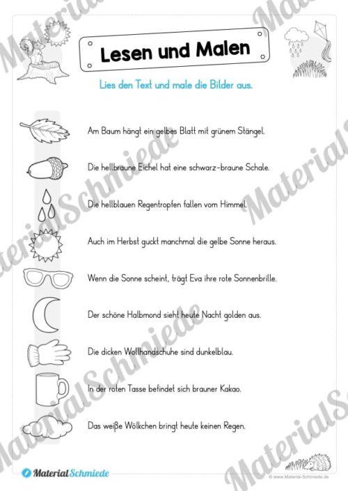 Materialpaket: Lesen und Malen im Herbst (Vorschau 07)