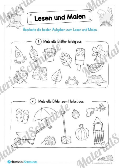 Materialpaket: Lesen und Malen im Herbst (Vorschau 08)