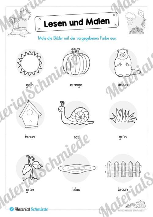 Materialpaket: Lesen und Malen im Herbst (Vorschau 11)
