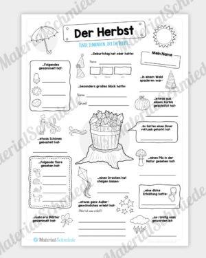 Arbeitsblatt: Herbst Bingo