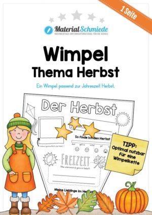 Wimpel / Wimpelkette zum Herbst