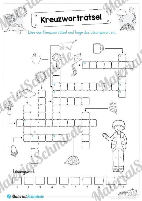15 Rätsel zum Herbst für die 1. und 2. Klasse (Vorschau 02)