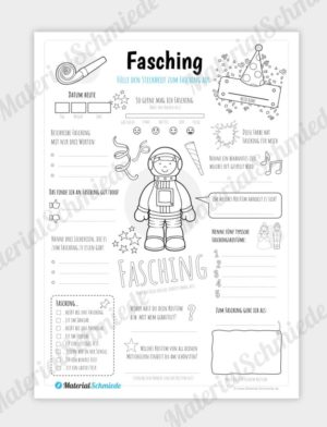 Steckbrief: Fasching (für Jungs)