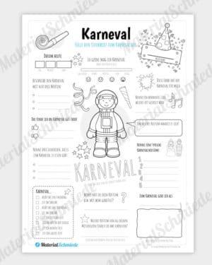Steckbrief: Karneval (für Jungs)
