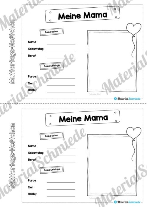 Mini-Heftchen zum Muttertag (Vorschau 02)