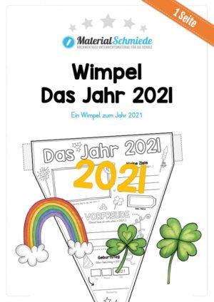 Das Jahr 2021 (Wimpel / Wimpelkette) Vorschau